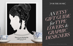 So Fresh and So Chic // An Etsy Gift Guide for Type Lovers and Graphic Designers! #sofreshandsochic #etsy #giftguide