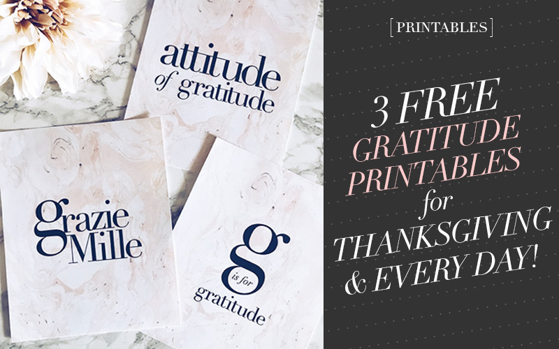 So Fresh and So Chic // 3 Free Gratitude Printables for Thanksgiving and Everyday! #freeprintables #freeprints #printables #thanksgiving