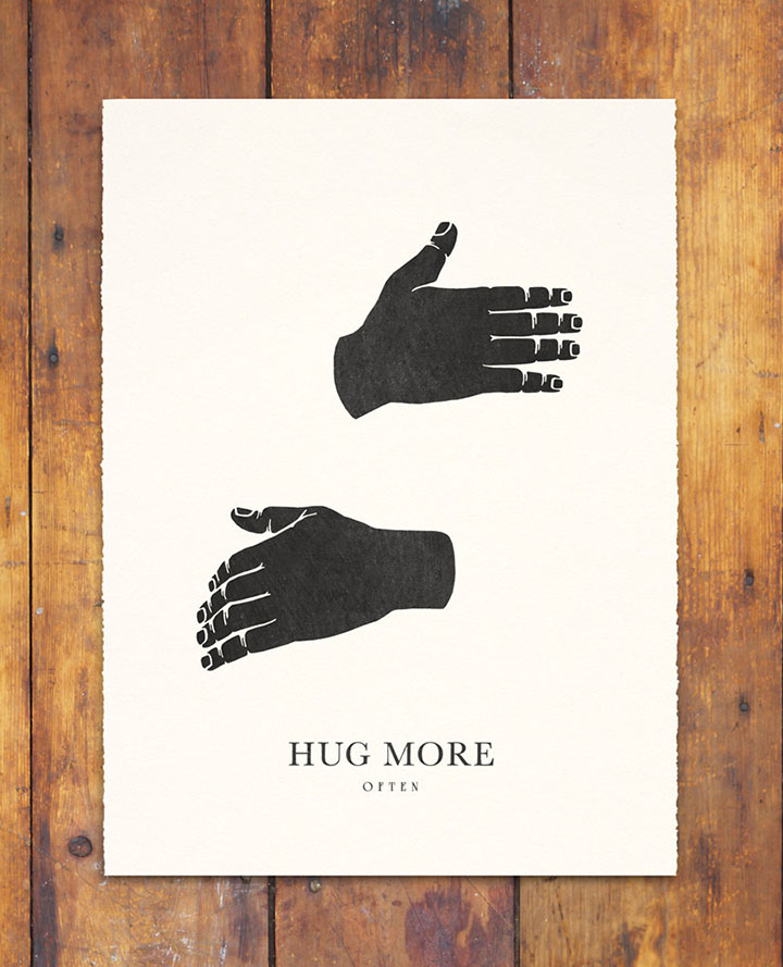 Friday Finds Vol. 28: Best of Etsy // Hug More print by Gregory Beauchamp #etsy #artwork #sofreshandsochic #etsyfinds