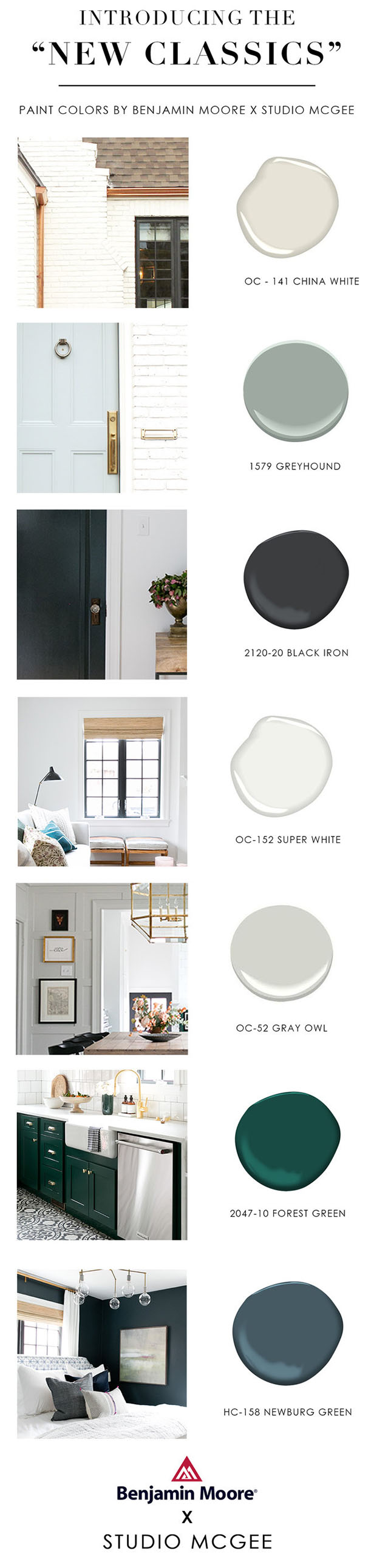 Friday Finds Vol. 28: The New Classics // Paint colours by Studio McGee and Benjamin Moore #homedecor #interiordesign #paintcolor #sofreshandsochic