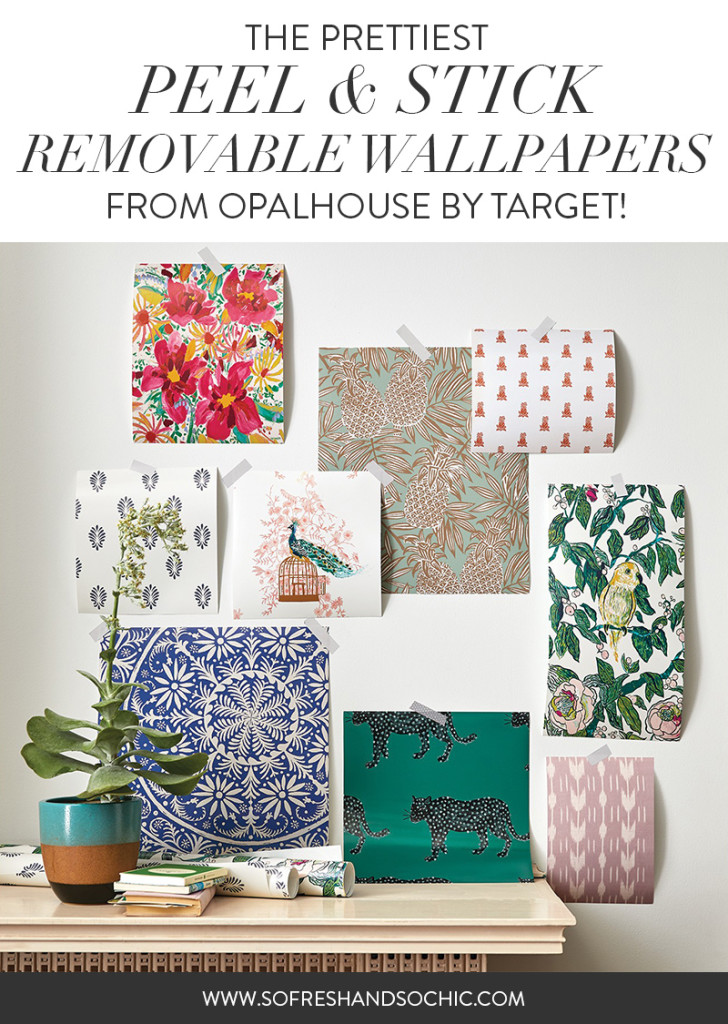 So Fresh & So Chic // The Prettiest Peel & Stick Removable Wallpaper from Opalhouse by Target! #targetstyle #bohochic #homedecor #removablewallpaper