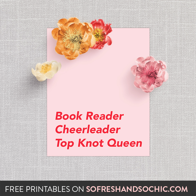 So Fresh & So Chic // Free and Modern Mother's Day Printables for the absolute queen in your life! #freeprintable #sofreshandsochic #forthehome