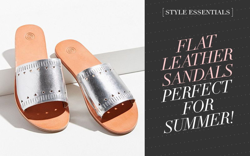So Fresh & So Chic // Flat Leather Sandals You'll Wear All Summer! #summeroutfit #summersandals #outfitinspiration