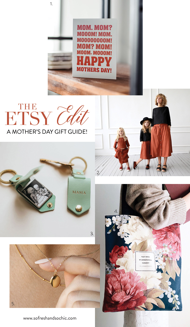 The Etsy Edit for Mother's Day // Mother's Day gift ideas from Etsy via sofreshandsochic.com