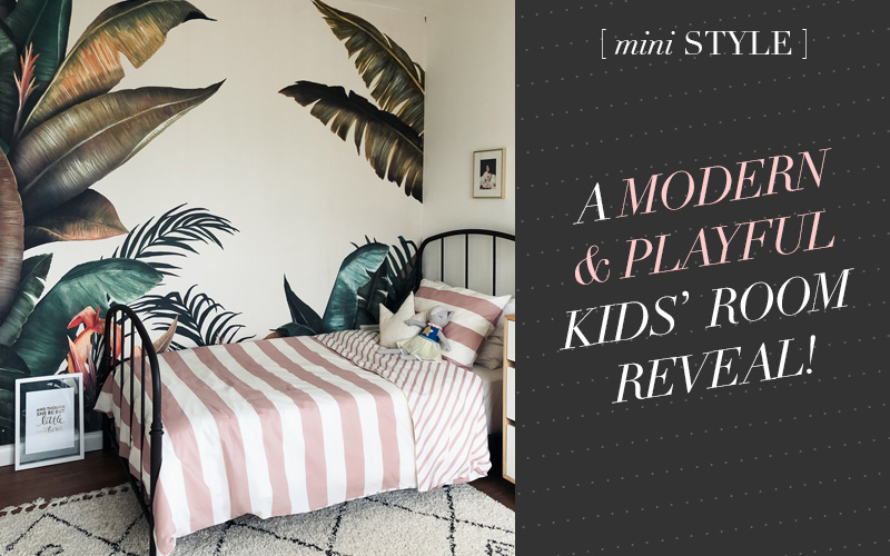 A Modern and Playful Kids Room with Photowall Wallpaper! // So Fresh & So Chic