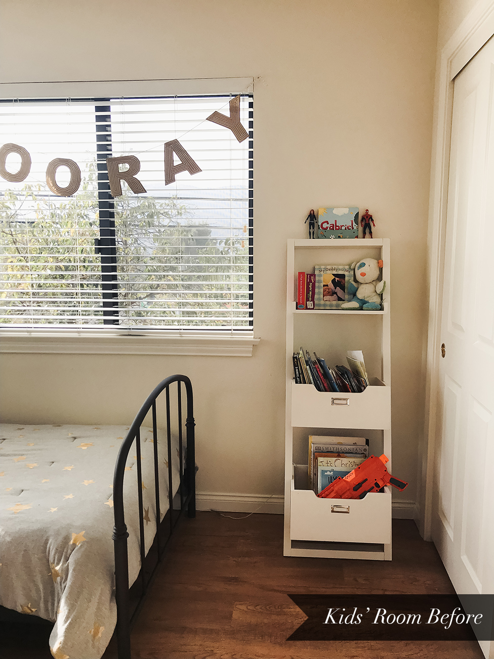 Kids Room Before Makeover // So Fresh & So Chic