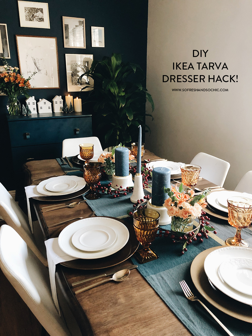 The Easiest DIY Ikea Tarva Hack! // So Fresh & So Chic