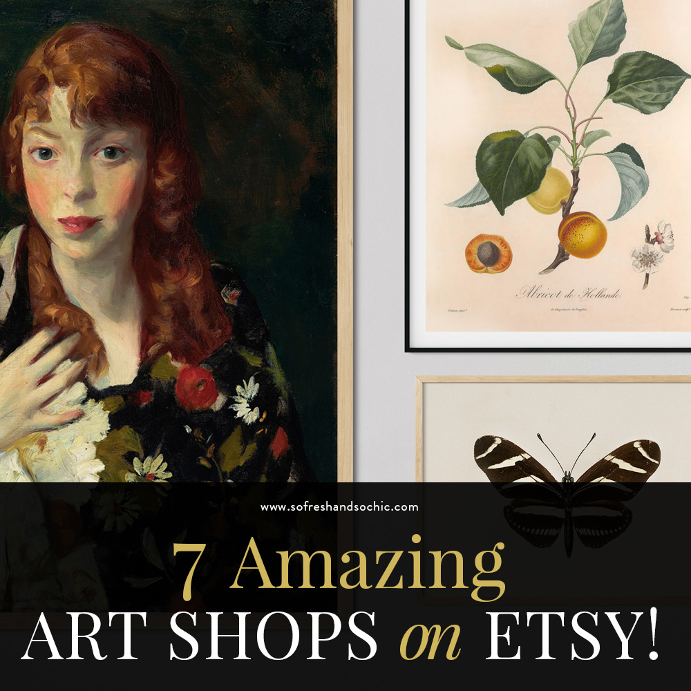 7 Amazing Art Shops on Etsy! // So Fresh and So Chic